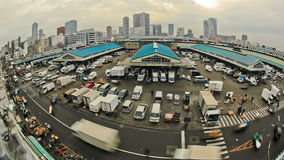 City Traffic Time Lapse Tokyo Fish Market stock footage