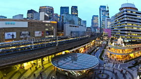 City Traffic Time Lapse Tokyo Ginza Station. V36. City traffic time lapse of Ginza train station stock footage