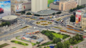 City Traffic Time Lapse Warsaw. V93. Time lapse of busy intersection in Warsaw, Poland stock video