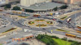 City Traffic Time Lapse Warsaw Zoom. V94. Zooming time lapse of busy intersection in Warsaw, Poland stock video footage