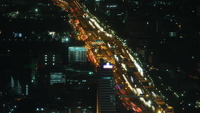 City traffic time lapse zoom 1. Urban night traffic time lapse zoom 1 stock footage