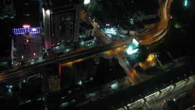 City traffic time lapse zoom 2. Urban night traffic time lapse zoom 2 stock video
