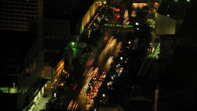 City traffic time lapse zoom 3. Urban night traffic time lapse zoom 3 stock video