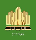 City train poster Stock Image