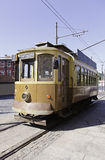 City train, tram. Old, detail of a conveyance of the city of Lisbon Royalty Free Stock Images