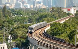 City train with weekday commuters Stock Photography