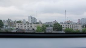 City from the Train Window. The city from the train window stock footage