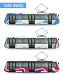 City Tram Cars Collection royalty free illustration