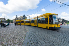 City Tram in the historic center. Stock Images