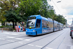 City tram on the streets of Munich Stock Photos