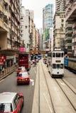 City trams in Hong Kong Royalty Free Stock Photo