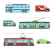 City transport flat icons Stock Images