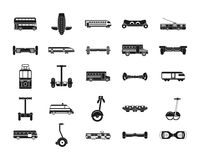 City transport icon set, simple style Royalty Free Stock Photo