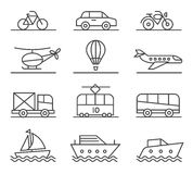 City transport icons set Stock Photography