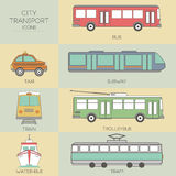 City transport icons Stock Photography