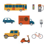 City transport illustrations Royalty Free Stock Photography