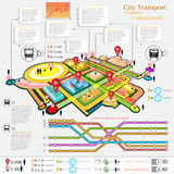 city transport infographic abstract city diagrams Stock Images