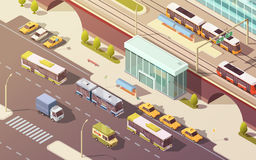 City Transport Isometric Illustration Royalty Free Stock Photos