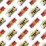 City transport public industry tram seamless pattern  Stock Photos