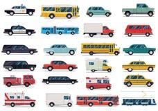 City transport set. Flat design vector illustration isolated on white background. Transport set. Flat design vector illustration isolated on white background Stock Photography