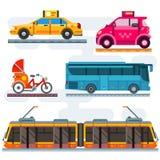 City transport set. Public transport, personal transport. Vector flat illustrations Royalty Free Stock Image
