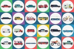 City transport set. Royalty Free Stock Image