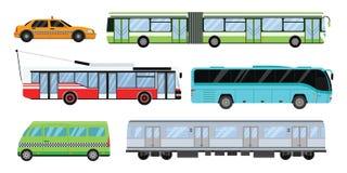 City transport set vector illustration. Stock Photos