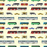 City transport set vector illustration. Stock Image