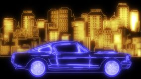 City transport, traffic on the street. Cityscape, buildings and cars laser animation. City transport, traffic on the street. Cityscape, buildings and cars stock illustration