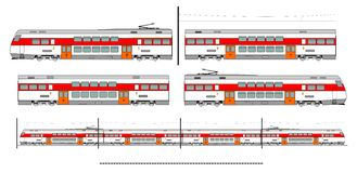 City transport train kit stock illustration