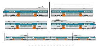 City transport train kit Royalty Free Stock Photos