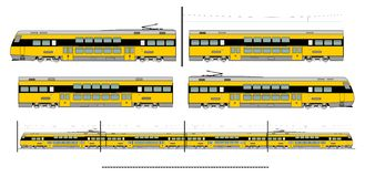 City transport train kit Royalty Free Stock Photo