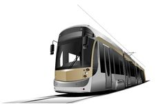 City transport. Tram Royalty Free Stock Images