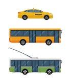 City transport vector flat illustrations. Royalty Free Stock Photography