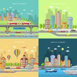 City Transpot Design Concept Set Stock Photography