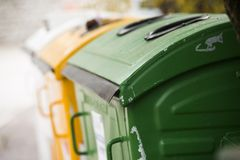 City trash cans Stock Photography