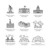 City travel landmarks of United States of America Royalty Free Stock Photos