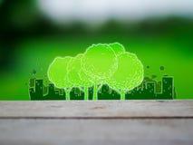City and tree Stock Photos
