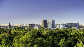 City of trees Boise Idaho with Capital building and skyline Stock Photography