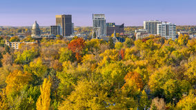 City of trees Boise Idaho in the fall Royalty Free Stock Image