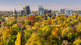 City of trees Boise Idaho in the fall Royalty Free Stock Photography