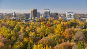 City of trees in full autumn color with the Capital Stock Photography
