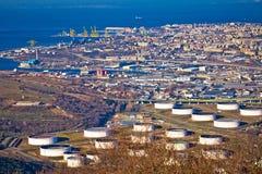 City of Trieste aerial view Stock Photos