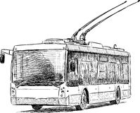 City trolleybus Royalty Free Stock Images
