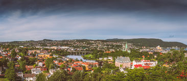 The city of Trondheim. In Norway Royalty Free Stock Image