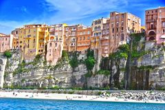 The city of Tropea, Calabria, Italy. The city of Tropea in the Province of Vibo Valentia, Calabria, Italy stock images
