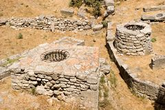 City of Troy ruins. Ruins at ancient city of Troy Royalty Free Stock Photos
