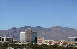 City of Tucson Downtown and Mountains, AZ Royalty Free Stock Photo