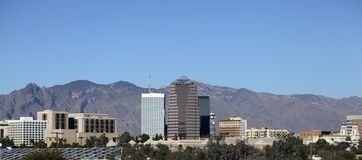 City of Tucson Panorama, AZ Royalty Free Stock Photo