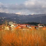 City. In tuscany Stock Images